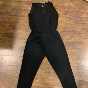 Zara Basic Black Jumpsuit